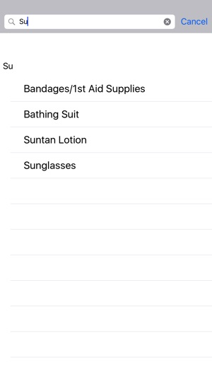 Vacation Packing List on the App Store