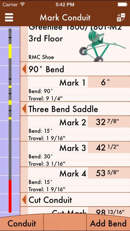 RIGID Conduit Bending Calculator by Bret Hardman