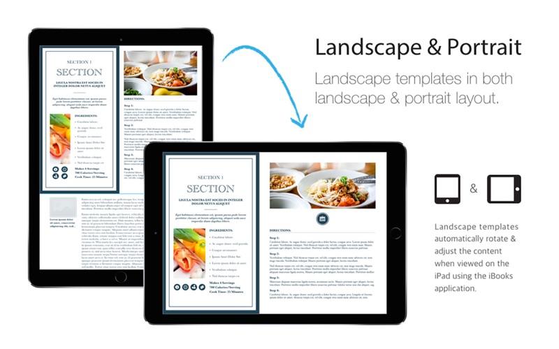 Cookbook Templates iBooks Author Edition App Price Drops