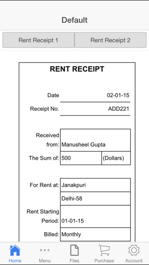 Rent Receipt on the App Store