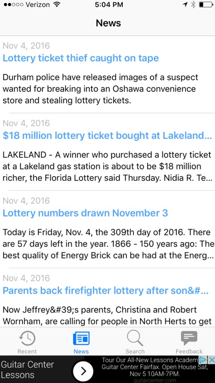 Illinois Lotto Results by Leisure Apps