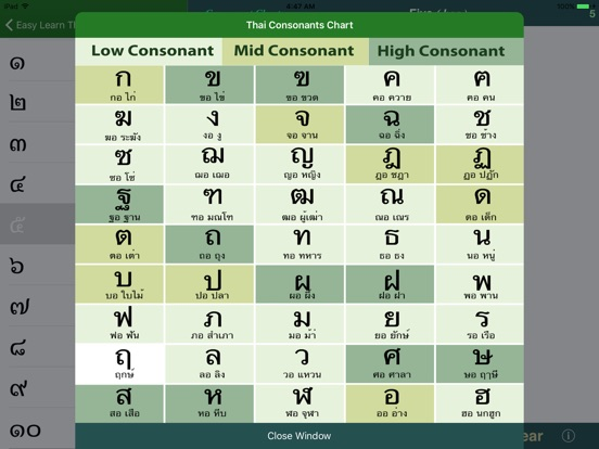 Sample thai alphabet chart 8 documents in pdf
