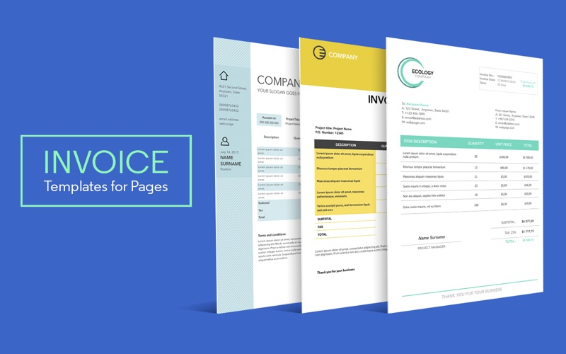 Invoice Templates for Pages on the Mac App Store - pages invoice template