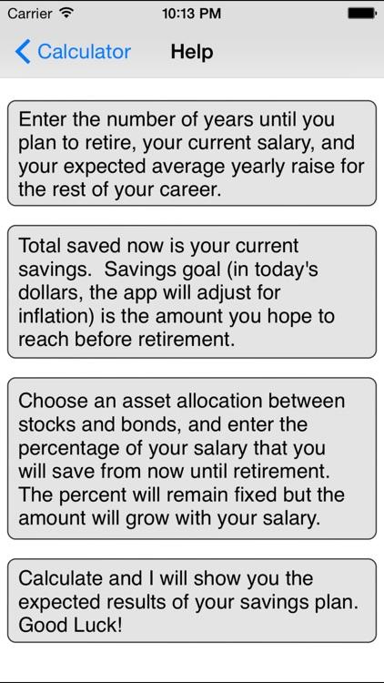 Retirement Savings Calculator by Michael Kale