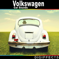 Volkswagen Beetle Medium Stop on Asphalt Digiffects Sound Effects Library