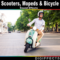Scooter Ride at Different Speeds with Gear Changes Digiffects Sound Effects Library