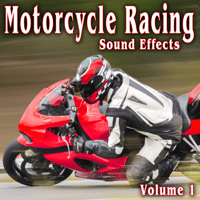 Several Super Bikes Pass by Fast from Left to Right on Straight Away Take 1 The Hollywood Edge Sound Effects Library