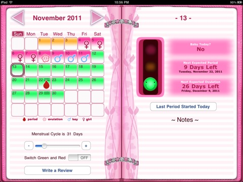 Maybe Baby 2016 for iPad - Fertility / Ovulation Diary, Period Tracker