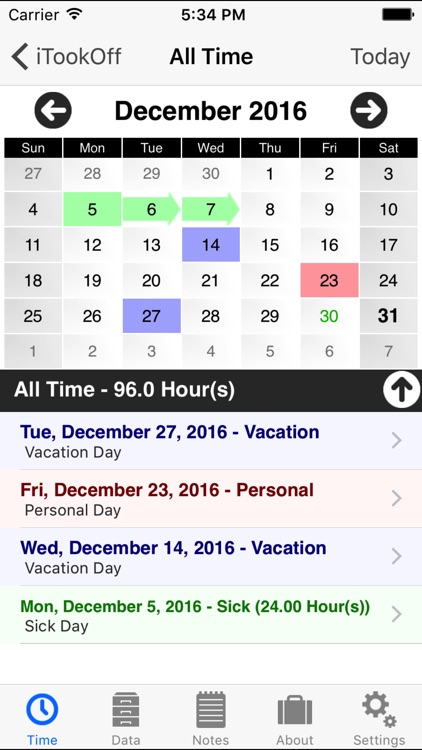 iTookOff Paid Leave Tracker by Salerno Labs LLC