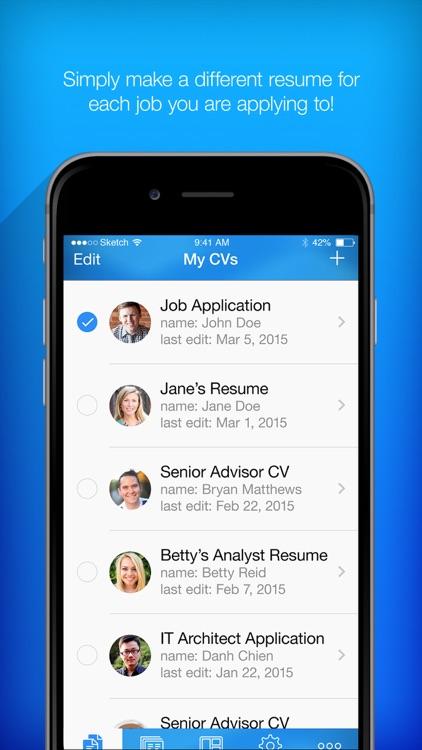 Resume Builder, Resume Creator by PocketSoft LLC