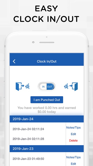 iTimePunch Plus Time Sheet App by Double Down Software LLC (iOS