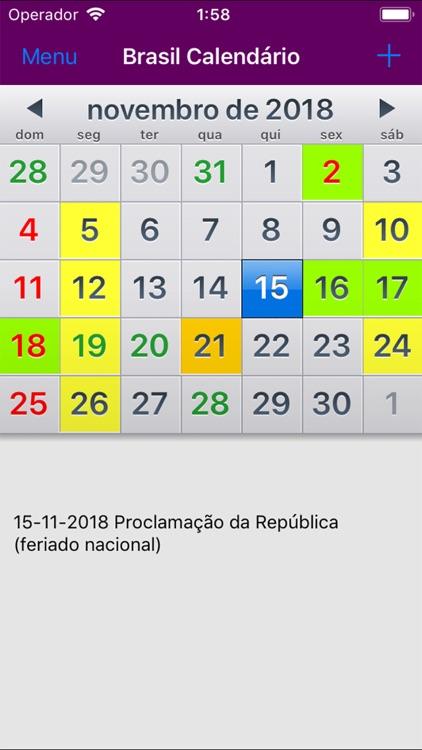 Calendário 2019 Brasil by Rhappsody Technologies