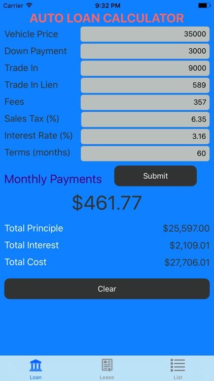 Car Loan Calculator \u2013 Auto Loan  Lease Calculator by Ibrahim Houari