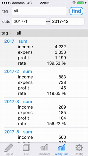 Investment Diary - Profit and loss management on the App Store