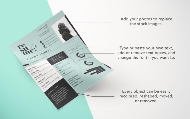 Resume Templates - DesiGN on the Mac App Store