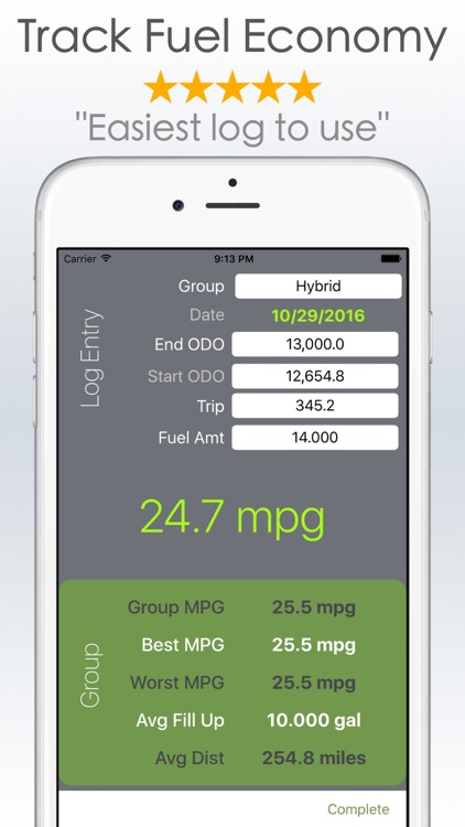 Fuel Tracker and MPG Calculator