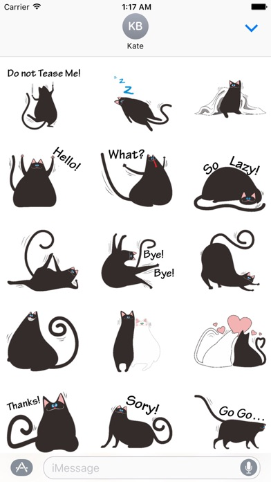 Chubby Black Cat Emoji Sticker App Price Drops