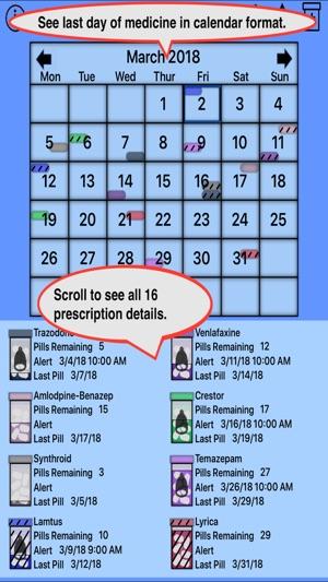 Prescription Reminder, Refils on the App Store - pill calendar template