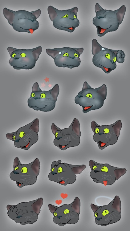 Black Cat emoji by Yann Le Roux