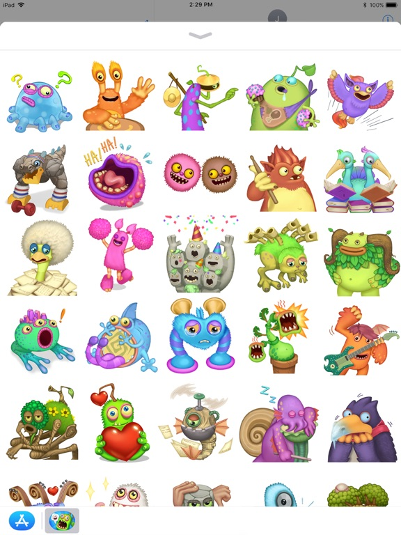 My Singing Monsters Stickers App Price Drops