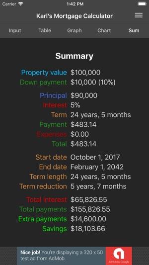 Karl\u0027s Mortgage Calculator on the App Store