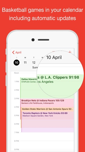 Basketball for iPhone Calendar on the App Store