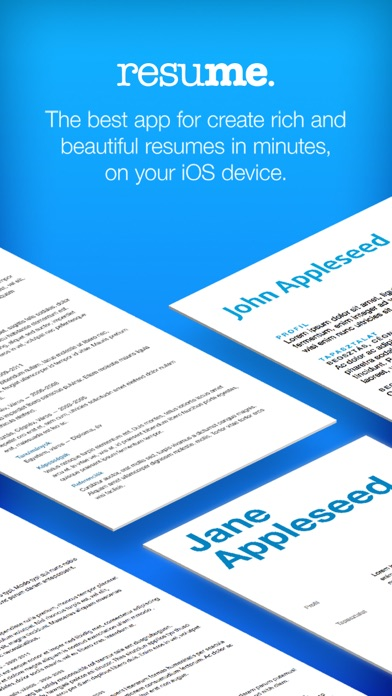 Resume Builder, Resume Creator IPA Cracked for iOS Free Download