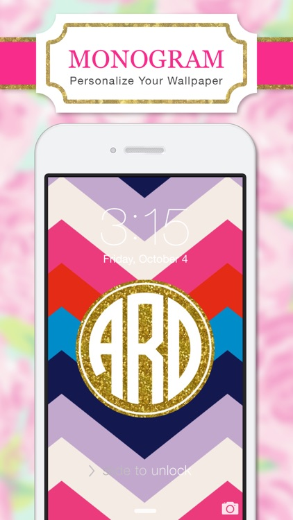 Cute Initial Wallpaper Monogram Wallpapers Background By Yellow Lab Inc