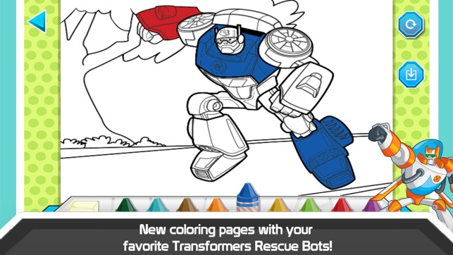 Transformers Rescue Bots Sky Forest Rescue on the App Store - new coloring pages for rescue bots