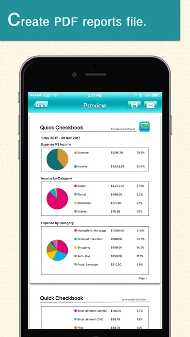 Quick Checkbook - by Maxwell Software - #4 App in Balancing