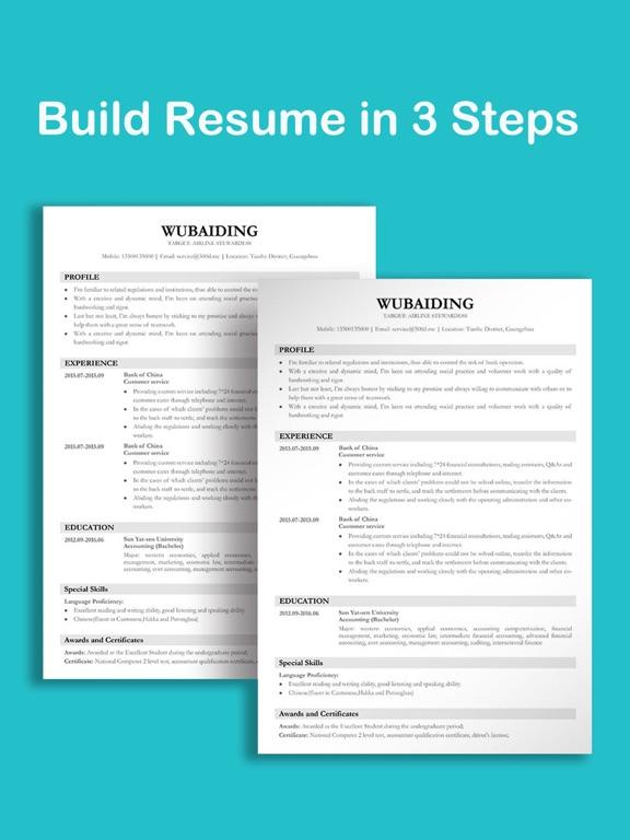 Resume and CV Builder App Price Drops
