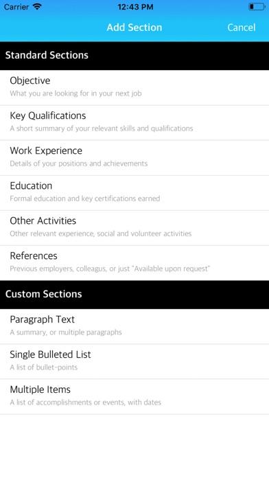 Resume Builder App - App - Mobile Apps