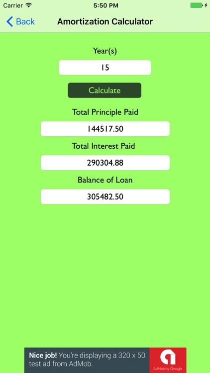 simple mortgage amortization calculator