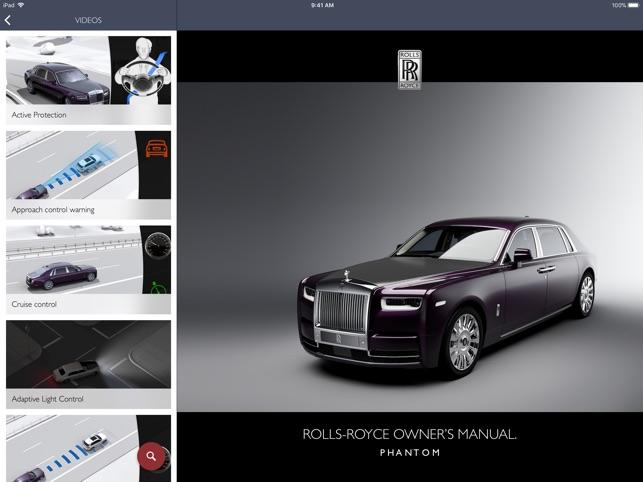 Rolls-Royce Owner\u0027s Manual on the App Store