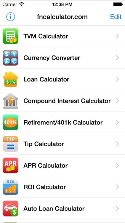 EZ Financial Calculators Pro by Bishinew Incorporated - 401k calculator
