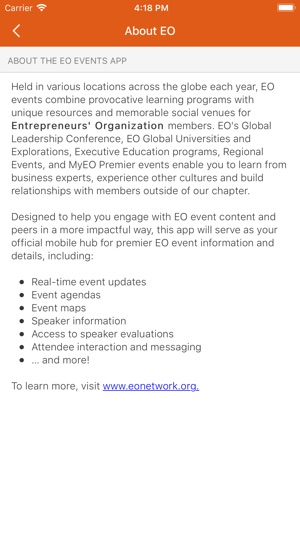 EO Events on the App Store