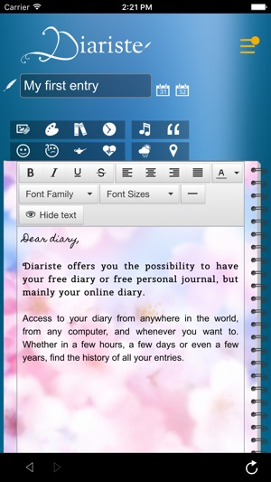 Diariste - Diary, Personal journal on the App Store