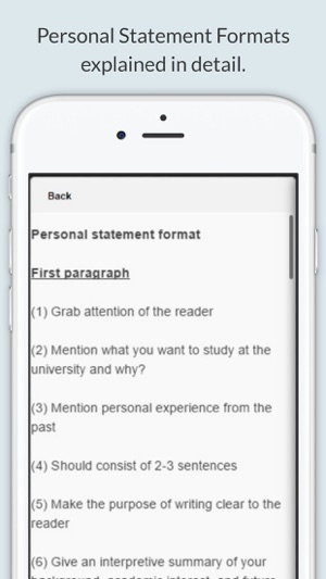 Personal Statement on the App Store - personal statement format