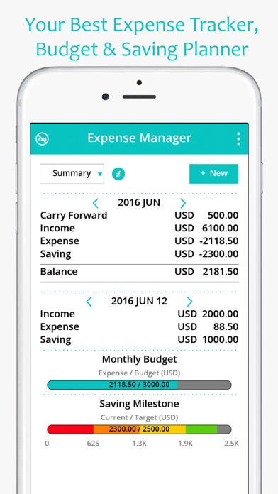 Money Expense Manager (Spending  Saving Planner) - by ZINITT