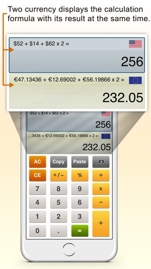 CurrencyCal - currency  exchange rates converter + calculator for
