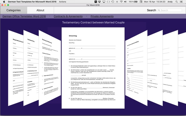 German Templates For Microsoft Word 2016 on the Mac App Store