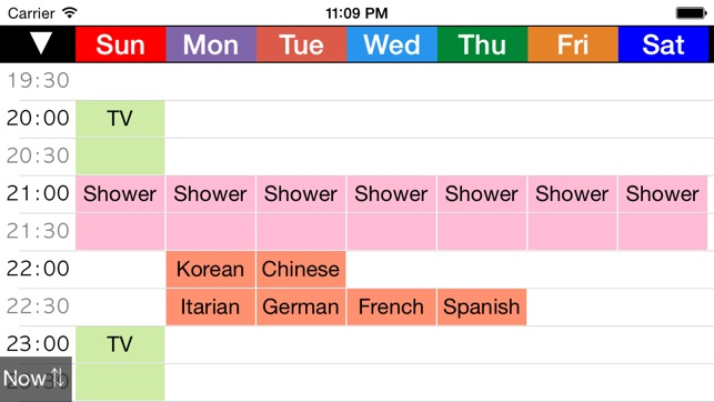 Week Table Free - Weekly schedule planner / Timetable /Time