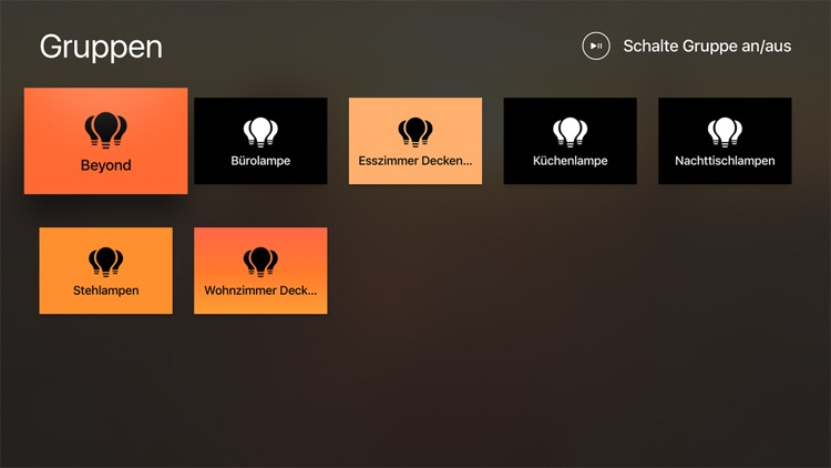 Home automation control your lights on Apple TV - category esszimmer continued