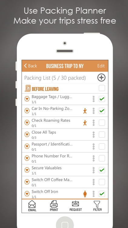 Packing Checklist Planner List by Space-O Digicom - Business Trip Packing List