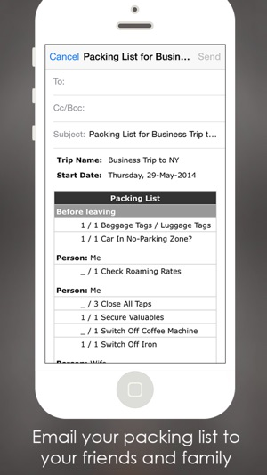 Packing Checklist Planner List on the App Store - Business Trip Packing List