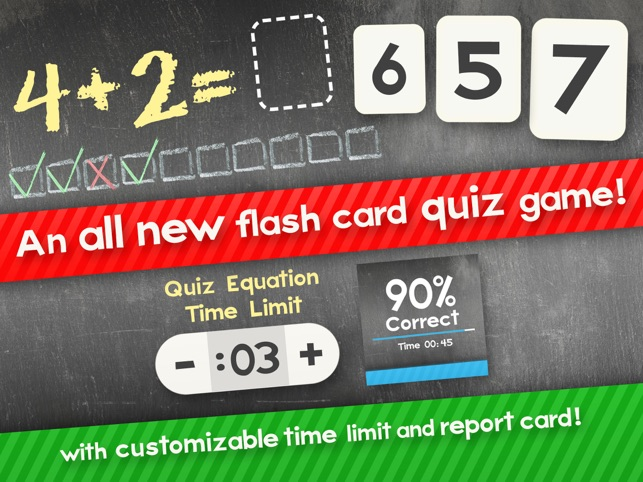 Addition Flash Cards Math Help Learning Games Free on the App Store