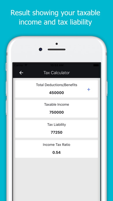 App Shopper Income Tax Calculator India (Finance) - Income Tax Calculator