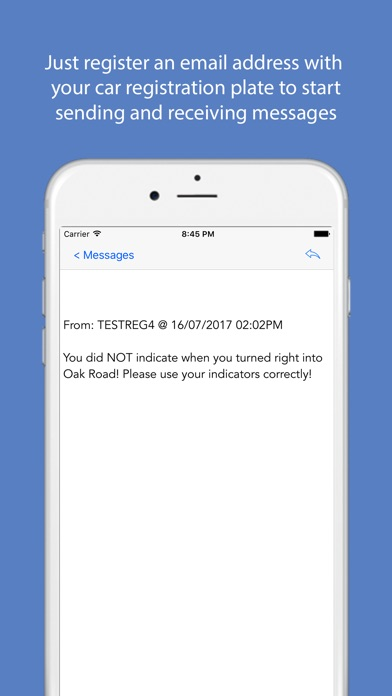 Car2Car Messenger Screenshot