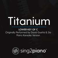 Titanium (Lower Key of C) Originally Performed by David Guetta & Sia] [Piano Karaoke Version] Sing2Piano
