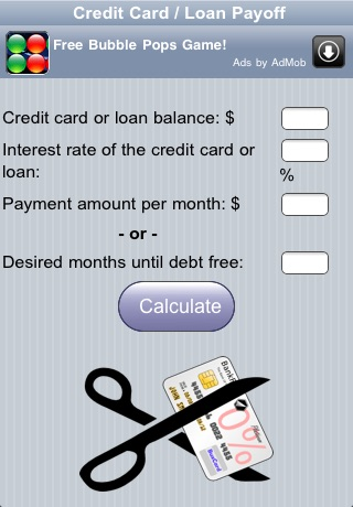 Credit Card Payoff Calc by John Rouda - payoff credit card loan